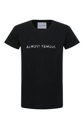 Мужская хлопковая футболка NASASEASONS черного цвета, арт. T024B/ALM0ST FAM0US | Фото 1