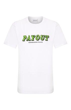 Мужская хлопковая футболка NASASEASONS белого цвета, арт. T039W/PAY0UT | Фото 1