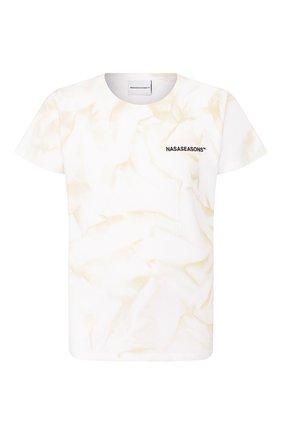 Мужская хлопковая футболка NASASEASONS белого цвета, арт. T040C/DUST DYE | Фото 1