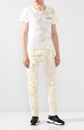 Мужская хлопковая футболка NASASEASONS белого цвета, арт. T040C/DUST DYE | Фото 2