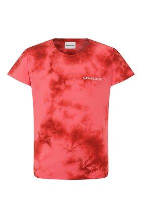Мужская хлопковая футболка NASASEASONS красного цвета, арт. T040R/SANGUINE DYE | Фото 1