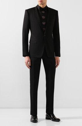 Мужская хлопковая сорочка DOLCE & GABBANA черного цвета, арт. G5HH6Z/GEM00 | Фото 2