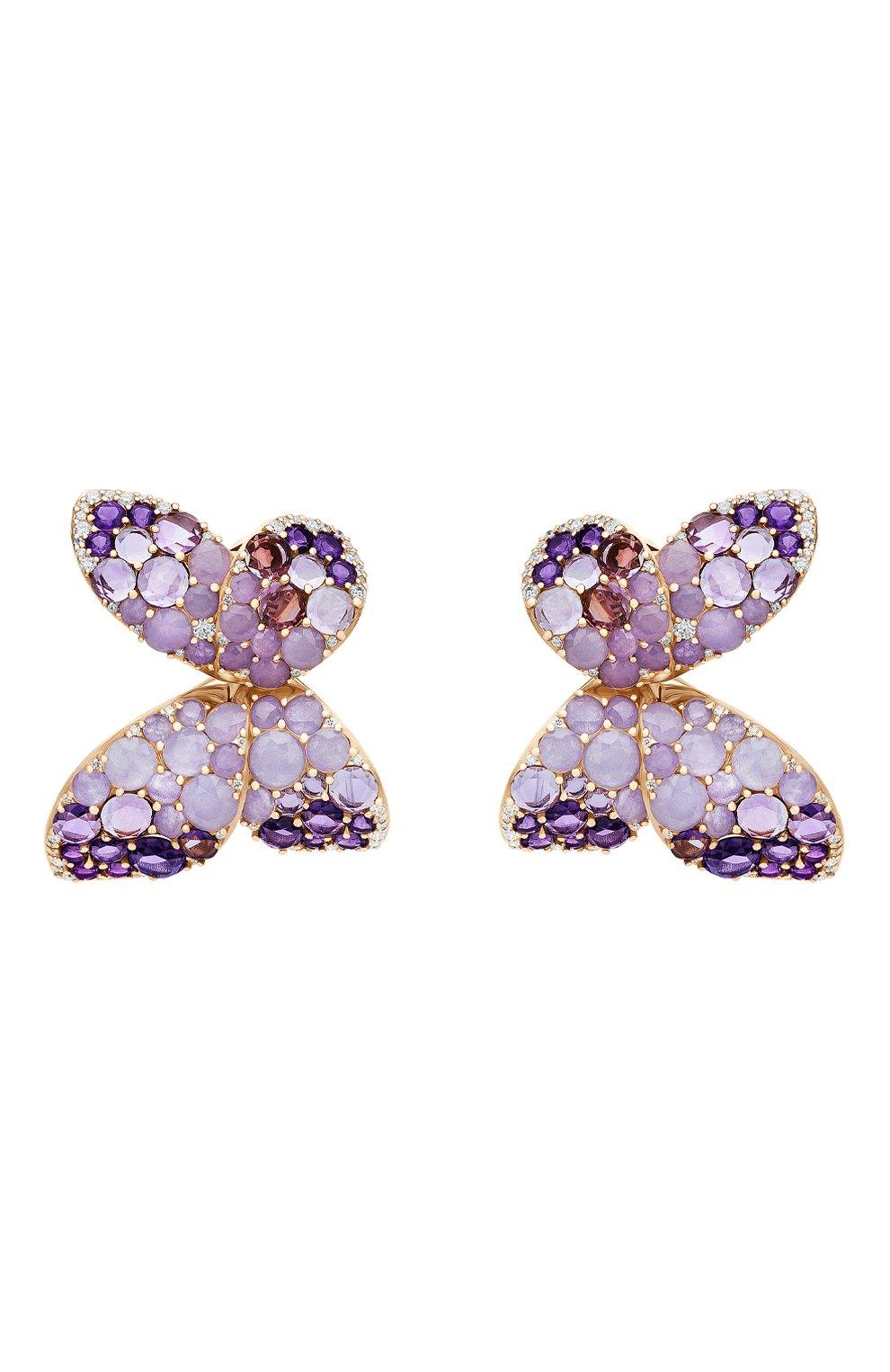 Женские серьги PASQUALE BRUNI бесцветного цвета, арт. 15446R   Фото 1 (Драгоценные камни: Бриллианты; Материал сплава: Розовое золото)