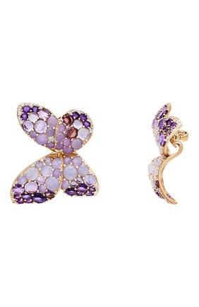 Женские серьги PASQUALE BRUNI бесцветного цвета, арт. 15446R   Фото 2 (Драгоценные камни: Бриллианты; Материал сплава: Розовое золото)