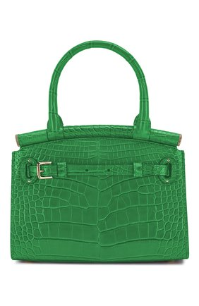 Женская сумка rl50 mini из кожи аллигатора RALPH LAUREN зеленого цвета, арт. 435769101/AMIS | Фото 1