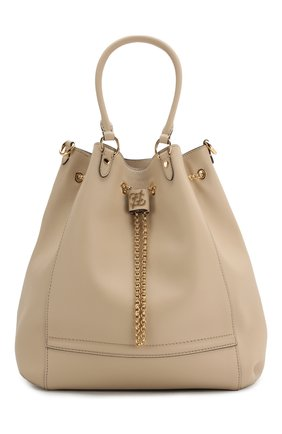 Женская сумка chain bucket FENDI бежевого цвета, арт. 8BT322 AAJ1 | Фото 1