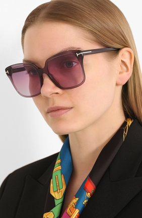 Женские солнцезащитные очки TOM FORD фиолетового цвета, арт. TF788 | Фото 2