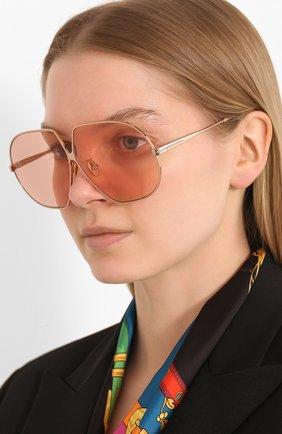 Мужские солнцезащитные очки TOM FORD бежевого цвета, арт. TF785 | Фото 2