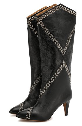 Женские кожаные сапоги lahia ISABEL MARANT черного цвета, арт. LAHIA/BT0039-20P012S | Фото 1