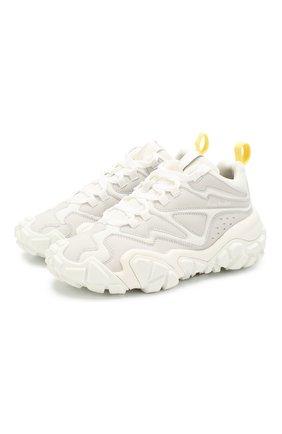 Женские комбинированные кроссовки ACNE STUDIOS белого цвета, арт. AD0216/W | Фото 1