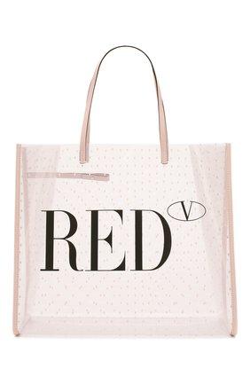 Женская сумка-шопер REDVALENTINO светло-розового цвета, арт. TQ0B0C07/MVN | Фото 1