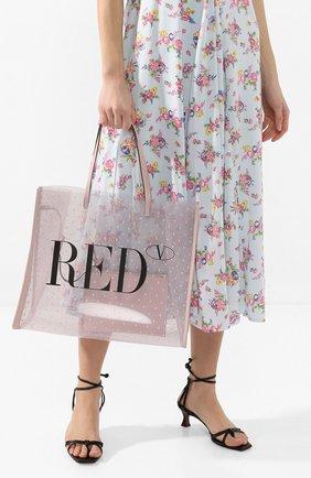 Женская сумка-шопер REDVALENTINO светло-розового цвета, арт. TQ0B0C07/MVN | Фото 2