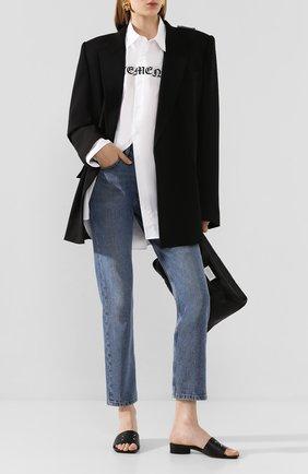 Женские кожаные мюли MAISON MARGIELA черного цвета, арт. S39WX0026/PR869   Фото 2