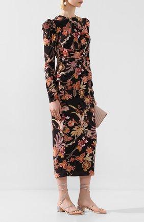 Женские текстильные босоножки cleo RENE CAOVILLA розового цвета, арт. C08671-040-R001V835 | Фото 2