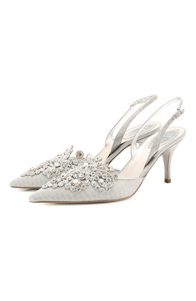 Женская комбинированные туфли RENE CAOVILLA серебряного цвета, арт. C10260-075-WW01N001 | Фото 1