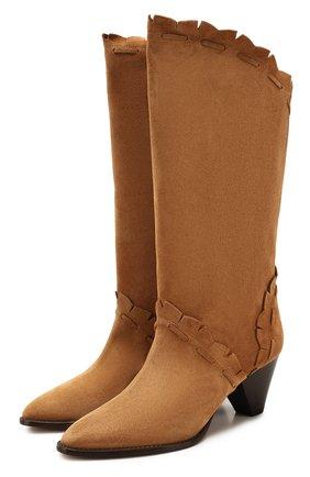 Женские замшевые сапоги leesta ISABEL MARANT светло-коричневого цвета, арт. LEESTA/B00497-20E003S | Фото 1