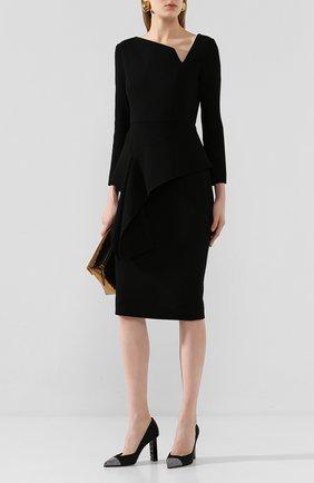 Женская текстильные туфли SERGIO ROSSI черного цвета, арт. A89960-MAFH16 | Фото 2