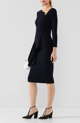 Женская кожаные туфли logomaniac SERGIO ROSSI черного цвета, арт. A90021-MNAN07   Фото 2