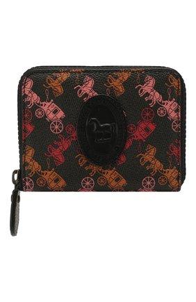 Женские кошелек COACH черного цвета, арт. 89375 | Фото 1