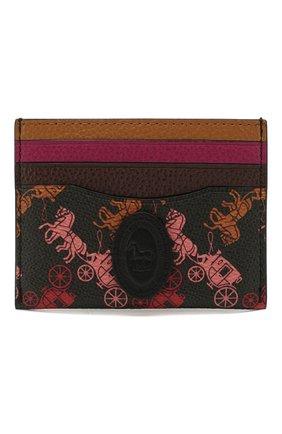 Женский футляр для кредитный карт COACH черного цвета, арт. 89577 | Фото 1