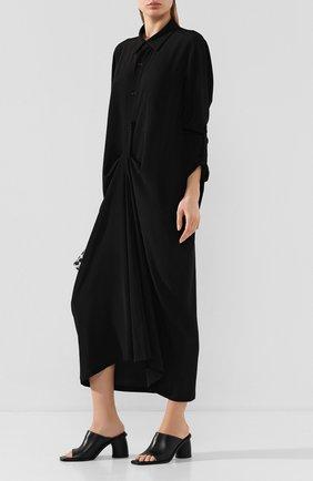 Женские кожаные мюли ANN DEMEULEMEESTER черного цвета, арт. 2001-2886-363-099   Фото 2