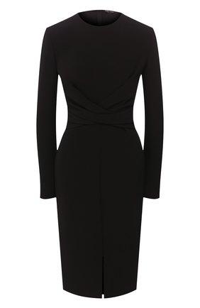 Женское шелковое платье TOM FORD черного цвета, арт. AB2767-FAX187 | Фото 1