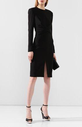 Женское шелковое платье TOM FORD черного цвета, арт. AB2767-FAX187 | Фото 2