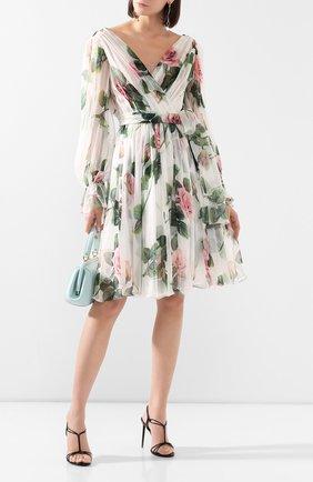 Женское шелковое платье DOLCE & GABBANA белого цвета, арт. F6G9GT/HS19S | Фото 2
