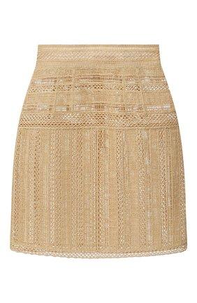 Женская юбка из вискозы DOLCE & GABBANA бежевого цвета, арт. F4BT9Z/GD0B8 | Фото 1