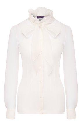 Женская шелковая блузка RALPH LAUREN белого цвета, арт. 290812479 | Фото 1