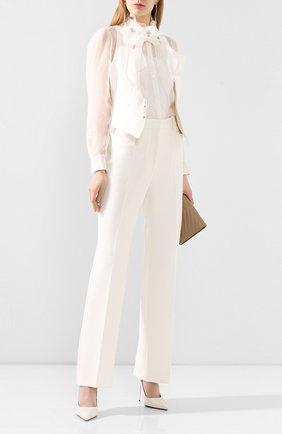 Женская шелковая блузка RALPH LAUREN белого цвета, арт. 290812479 | Фото 2