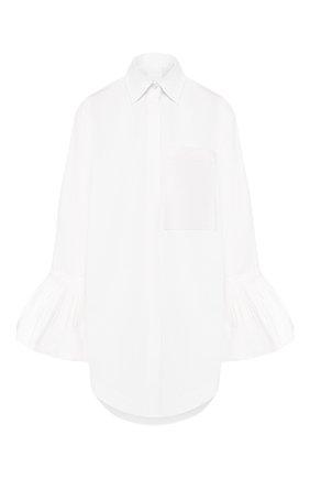 Женская хлопковая рубашка VALENTINO белого цвета, арт. TB0AB1B05DN | Фото 1