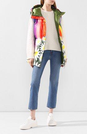 Женские джинсы MONCLER синего цвета, арт. F1-093-2A713-00-V0106 | Фото 2