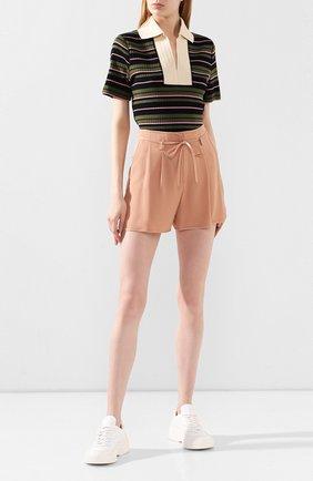 Женские шорты MONCLER розового цвета, арт. F1-093-2B703-00-C0485 | Фото 2