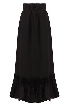Женская шелковая юбка VALENTINO черного цвета, арт. TB0RA5S04AR | Фото 1