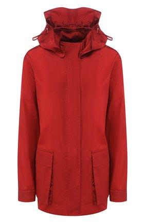 Женская шелковая куртка LORO PIANA красного цвета, арт. FAL1229 | Фото 1 (Материал внешний: Шелк; Длина (верхняя одежда): Короткие; Кросс-КТ: Ветровка, Куртка; Рукава: Длинные; Стили: Кэжуэл)