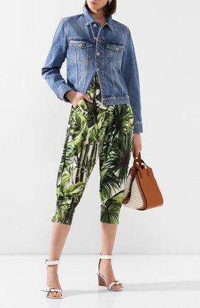 Женские хлопковые брюки DOLCE & GABBANA зеленого цвета, арт. FTBS6T/HS5HD | Фото 2
