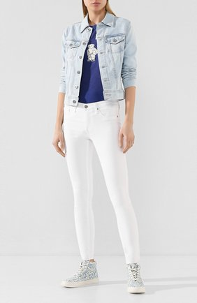 Женские джинсы AG белого цвета, арт. SSW1389RH/WHT | Фото 2