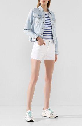 Женская джинсовая куртка AG голубого цвета, арт. LED4087/TRMP | Фото 2