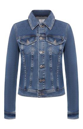 Женская джинсовая куртка AG синего цвета, арт. EMP4087/PSTY | Фото 1
