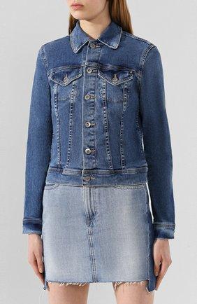 Женская джинсовая куртка AG синего цвета, арт. EMP4087/PSTY | Фото 2