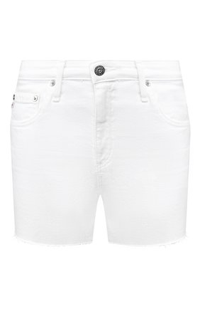 Женские джинсовые шорты AG белого цвета, арт. DSD1714RH/01Y0PW | Фото 1