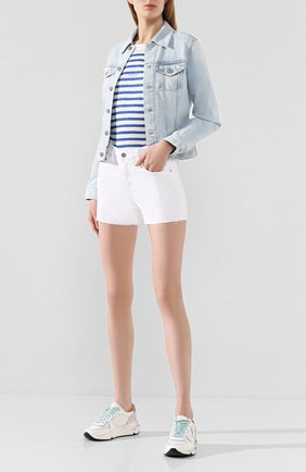 Женские джинсовые шорты AG белого цвета, арт. DSD1714RH/01Y0PW | Фото 2