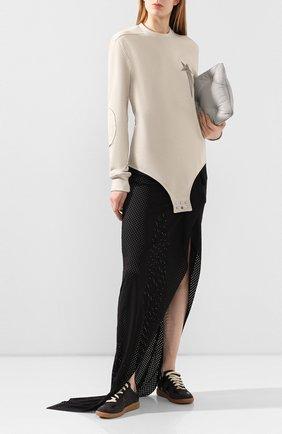 Женская юбка rick owens x champion RICK OWENS черного цвета, арт. CW20S0031/113649   Фото 2