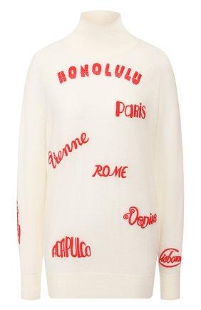 Женская шерстяной пуловер VICTORIA, VICTORIA BECKHAM разноцветного цвета, арт. 2120KJU000469A | Фото 1