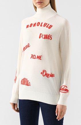 Женская шерстяной пуловер VICTORIA, VICTORIA BECKHAM разноцветного цвета, арт. 2120KJU000469A | Фото 2