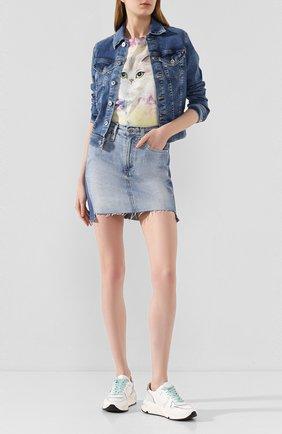 Женская джинсовая юбка AG голубого цвета, арт. HRD5548T0/89ATTN | Фото 2