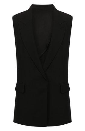 Женский жилет из вискозы AMI черного цвета, арт. E20FV203.232 | Фото 1