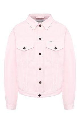 Женская джинсовая куртка FORTE DEI MARMI COUTURE розового цвета, арт. 20SF6360 | Фото 1