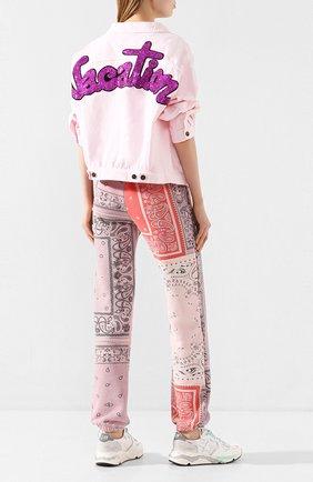 Женская джинсовая куртка FORTE DEI MARMI COUTURE розового цвета, арт. 20SF6360 | Фото 2